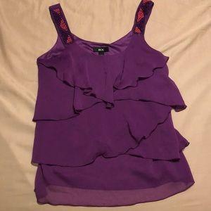 💟BCX Purple cute tank top. Flowy.